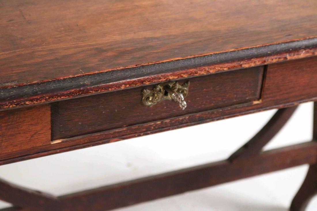 Oak Two-Drawer Side Table - 3