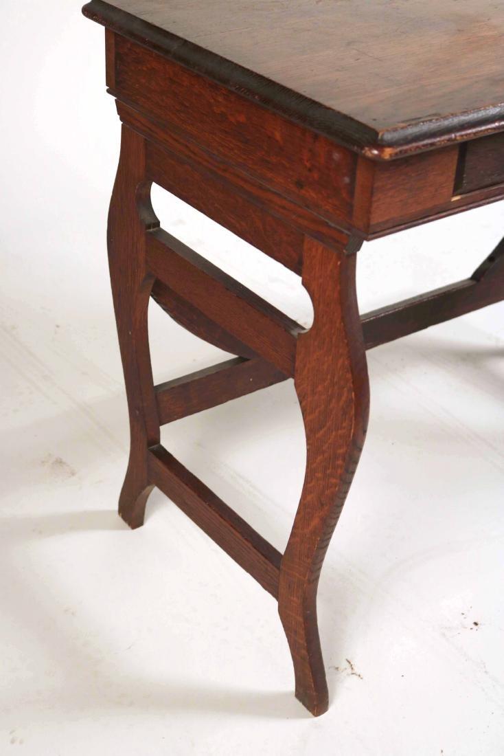 Oak Two-Drawer Side Table - 4