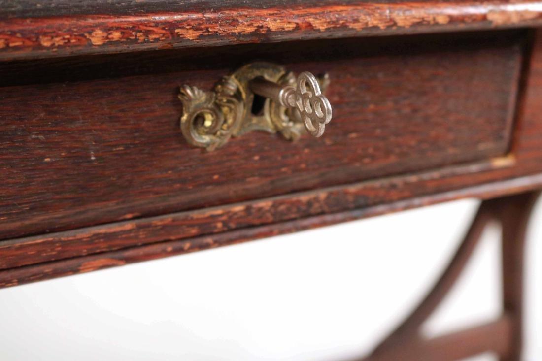 Oak Two-Drawer Side Table - 5
