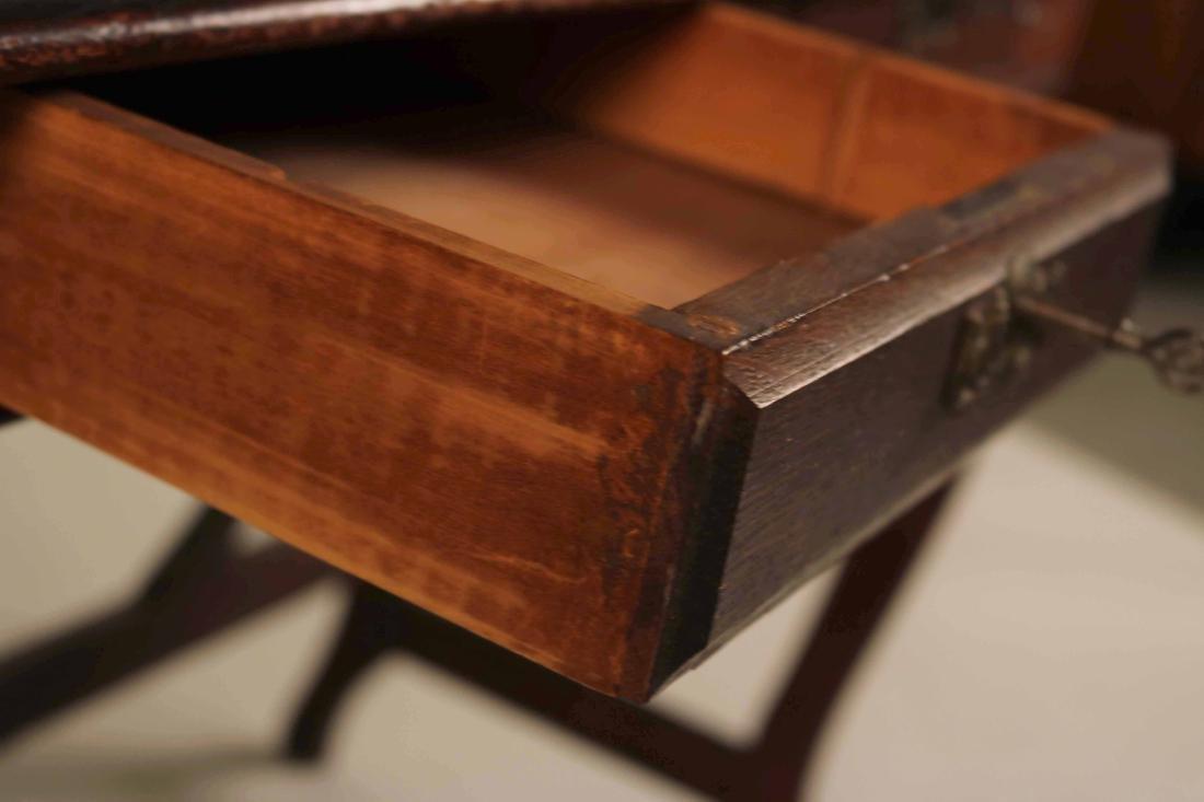 Oak Two-Drawer Side Table - 8
