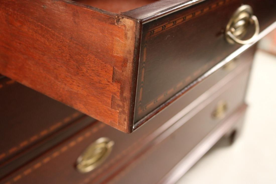 Federal Style Inlaid Mahogany Bookcase Secretary - 5