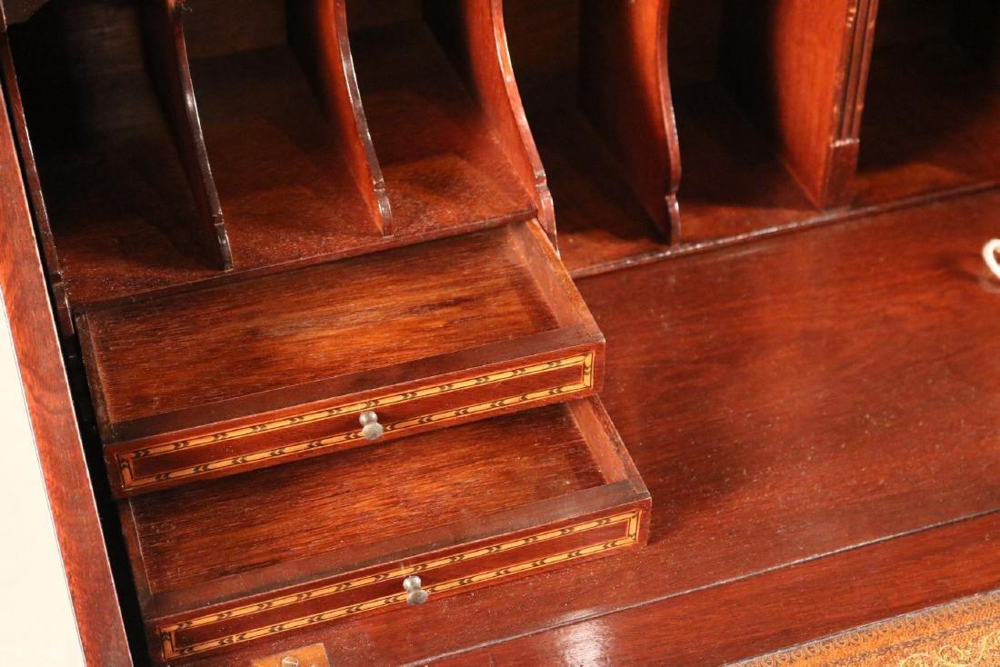 Federal Style Inlaid Mahogany Bookcase Secretary - 8