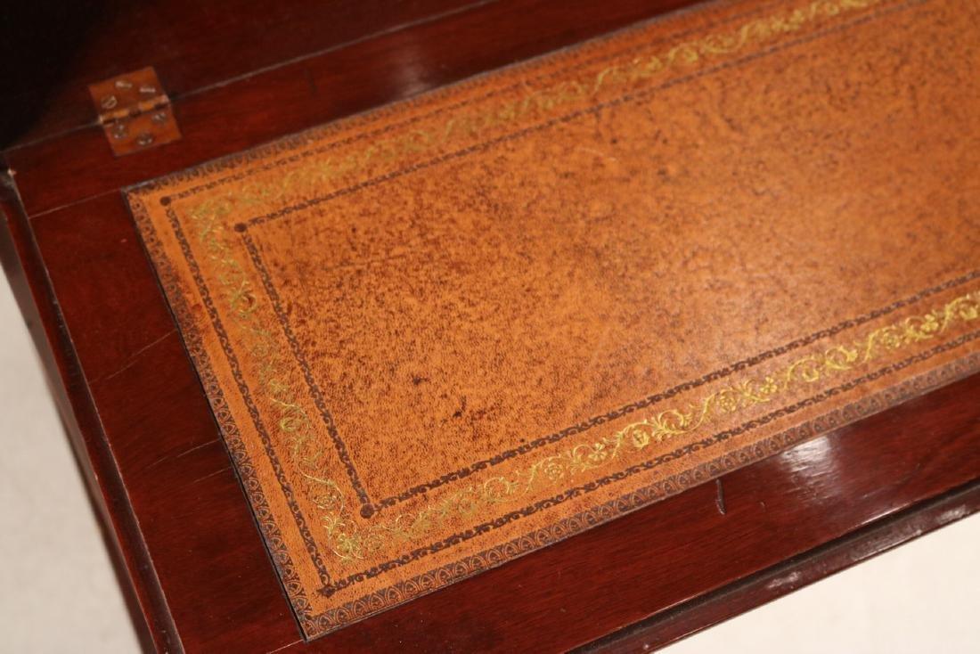 Federal Style Inlaid Mahogany Bookcase Secretary - 9