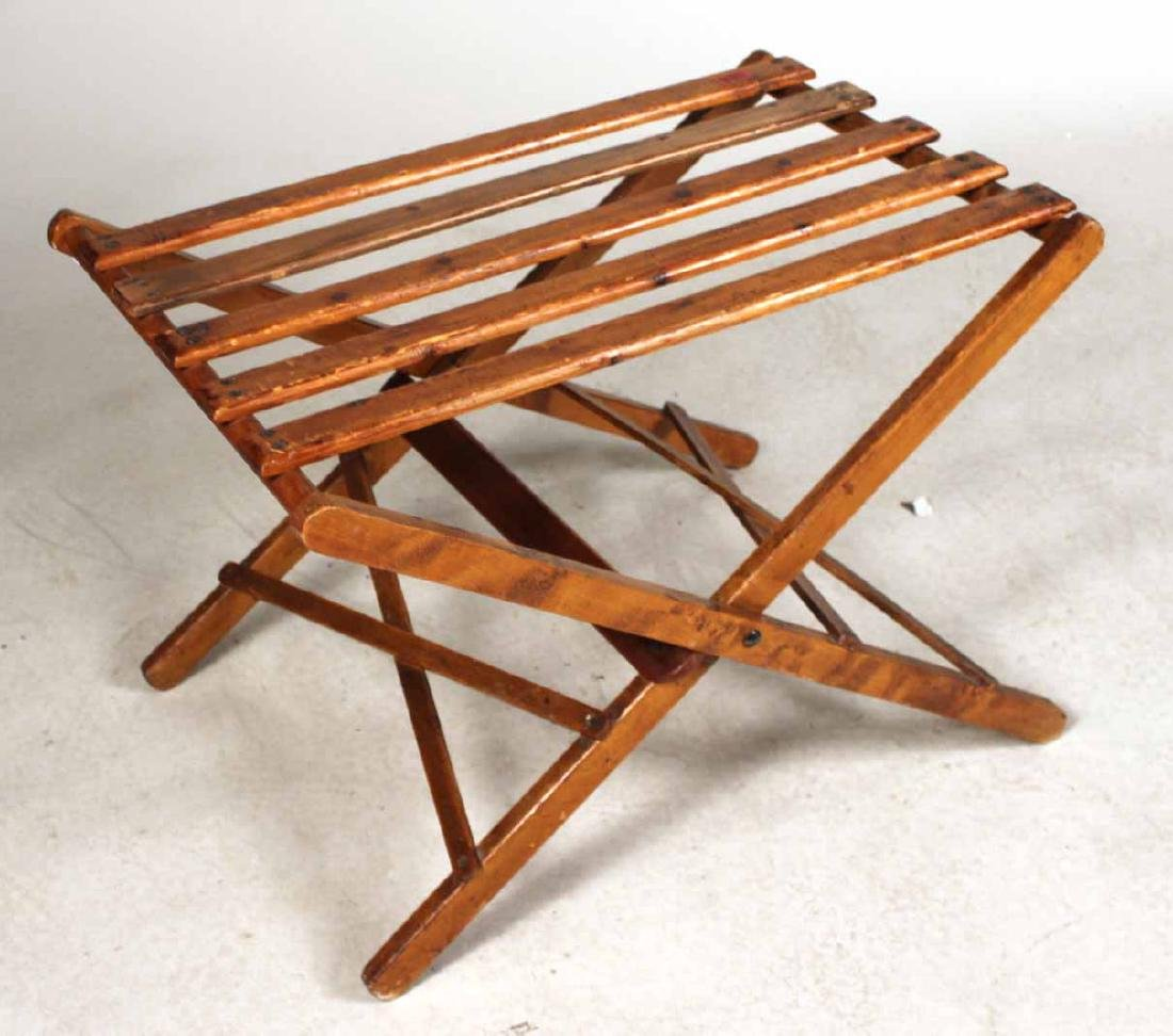 Stained Pine Luggage Rack - 4