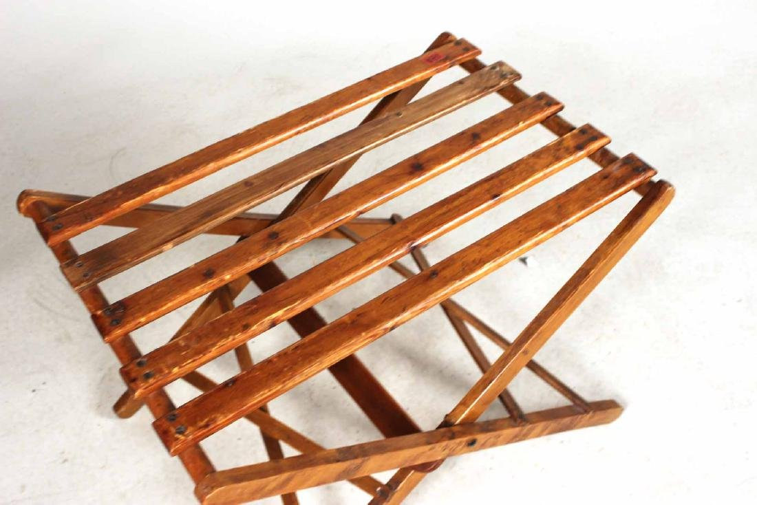 Stained Pine Luggage Rack - 5