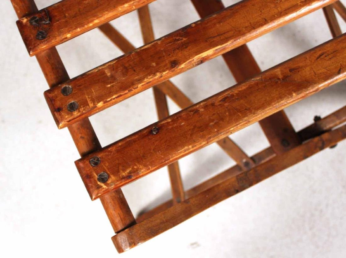 Stained Pine Luggage Rack - 6