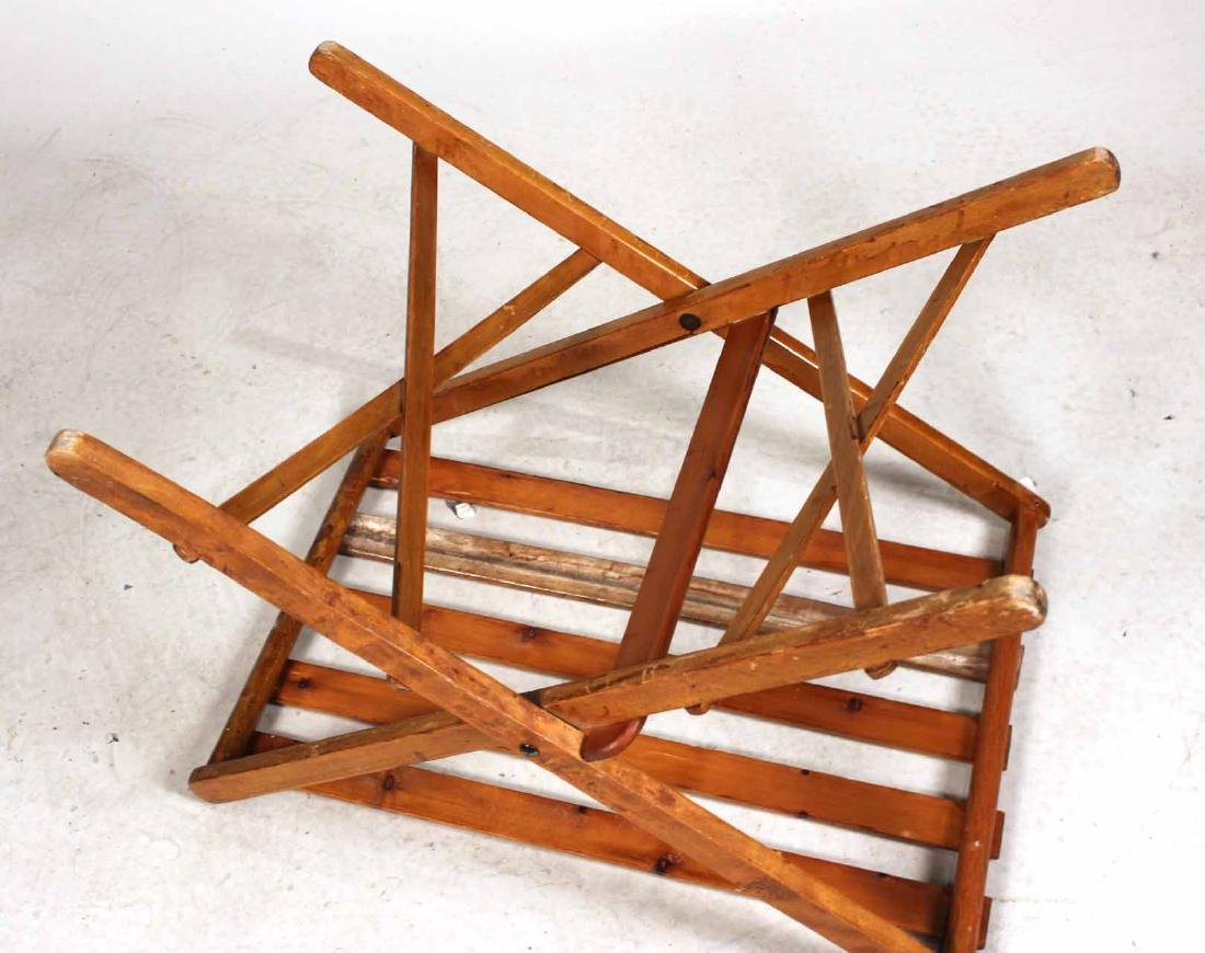 Stained Pine Luggage Rack - 7
