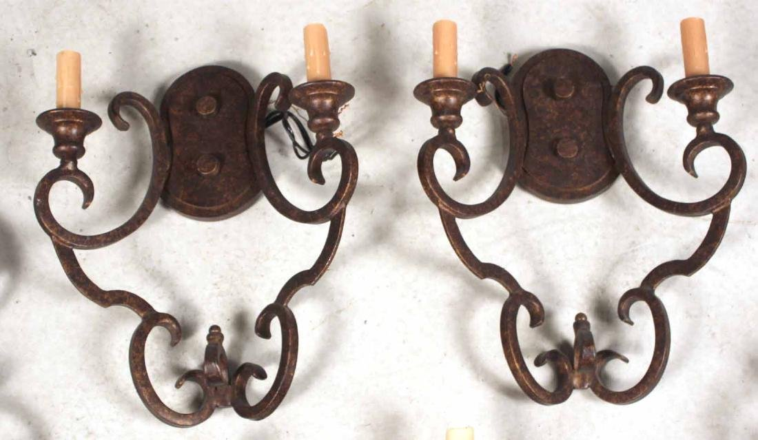 Three Pairs of Metal Wall Sconces - 4