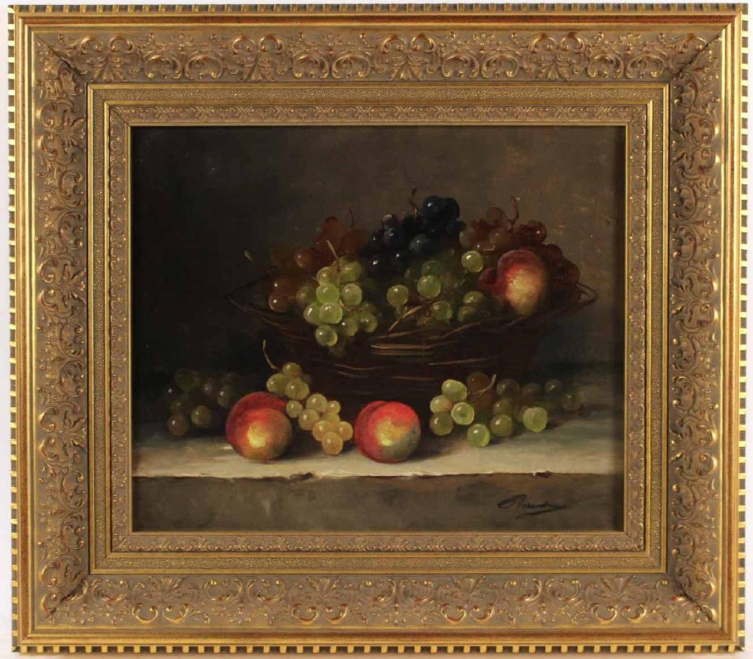 Oil on Canvas, Still Life with Grapes