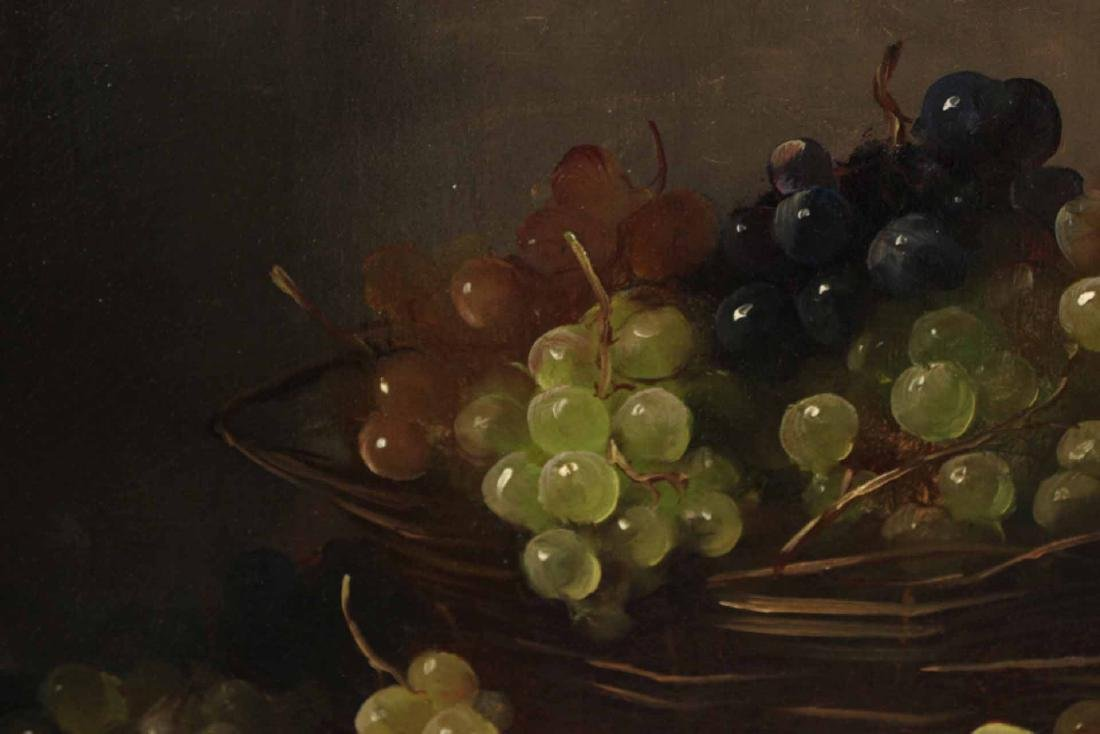 Oil on Canvas, Still Life with Grapes - 5