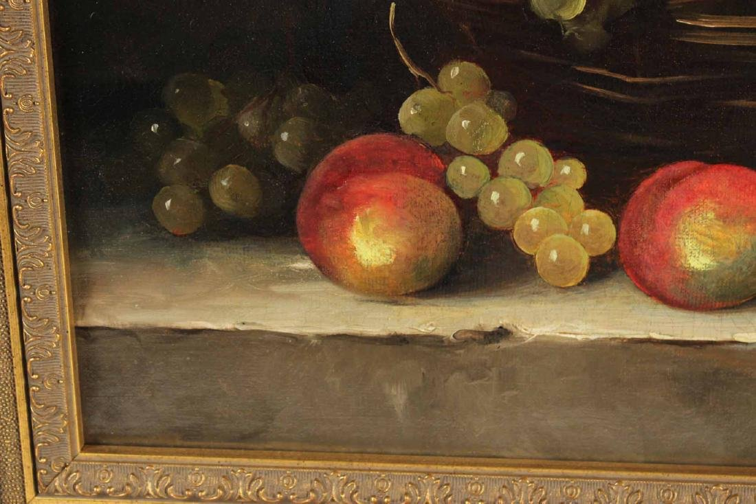 Oil on Canvas, Still Life with Grapes - 6