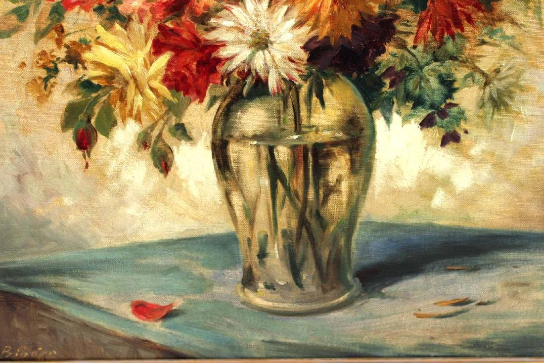 Oil on Canvas, Flower Still Life - 6