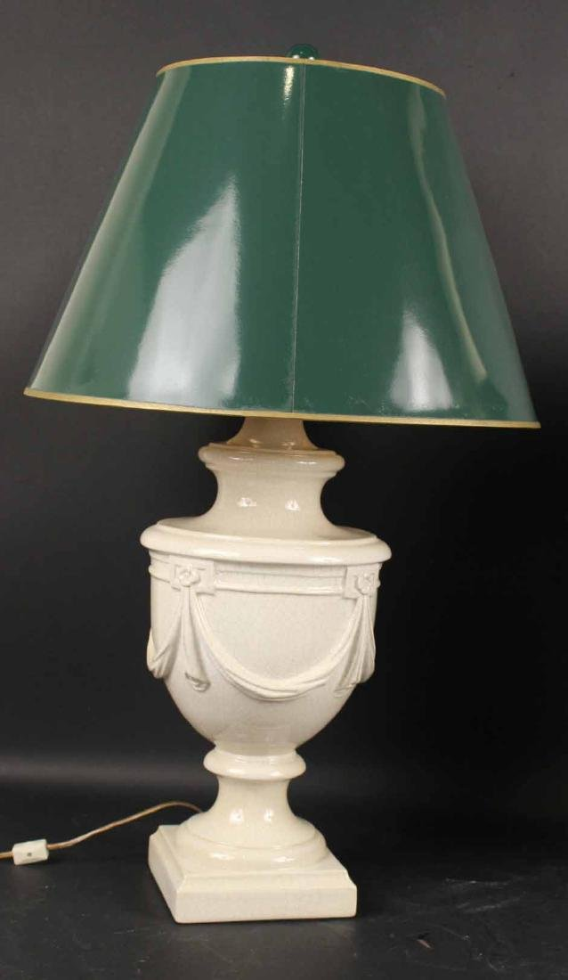 Two Neoclassical Style Ceramic Table Lamps - 2