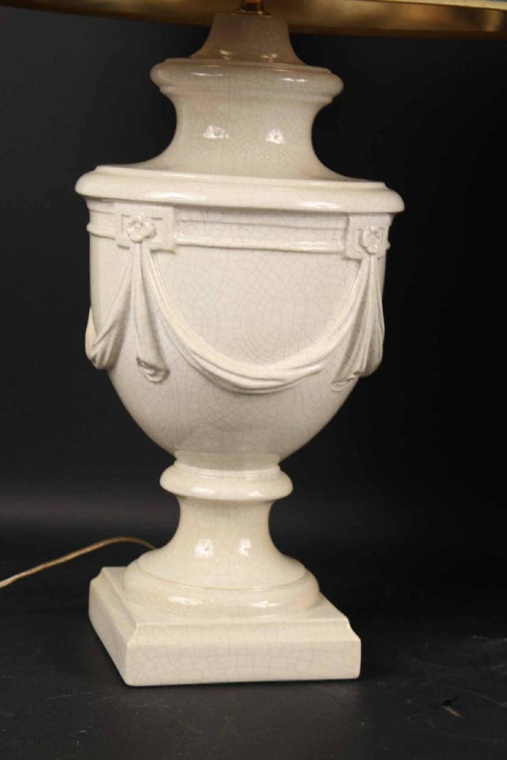 Two Neoclassical Style Ceramic Table Lamps - 3