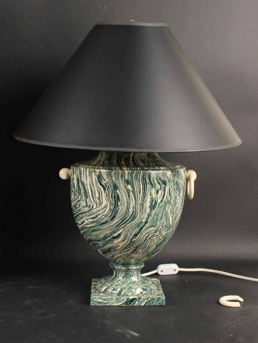 Two Neoclassical Style Ceramic Table Lamps - 4