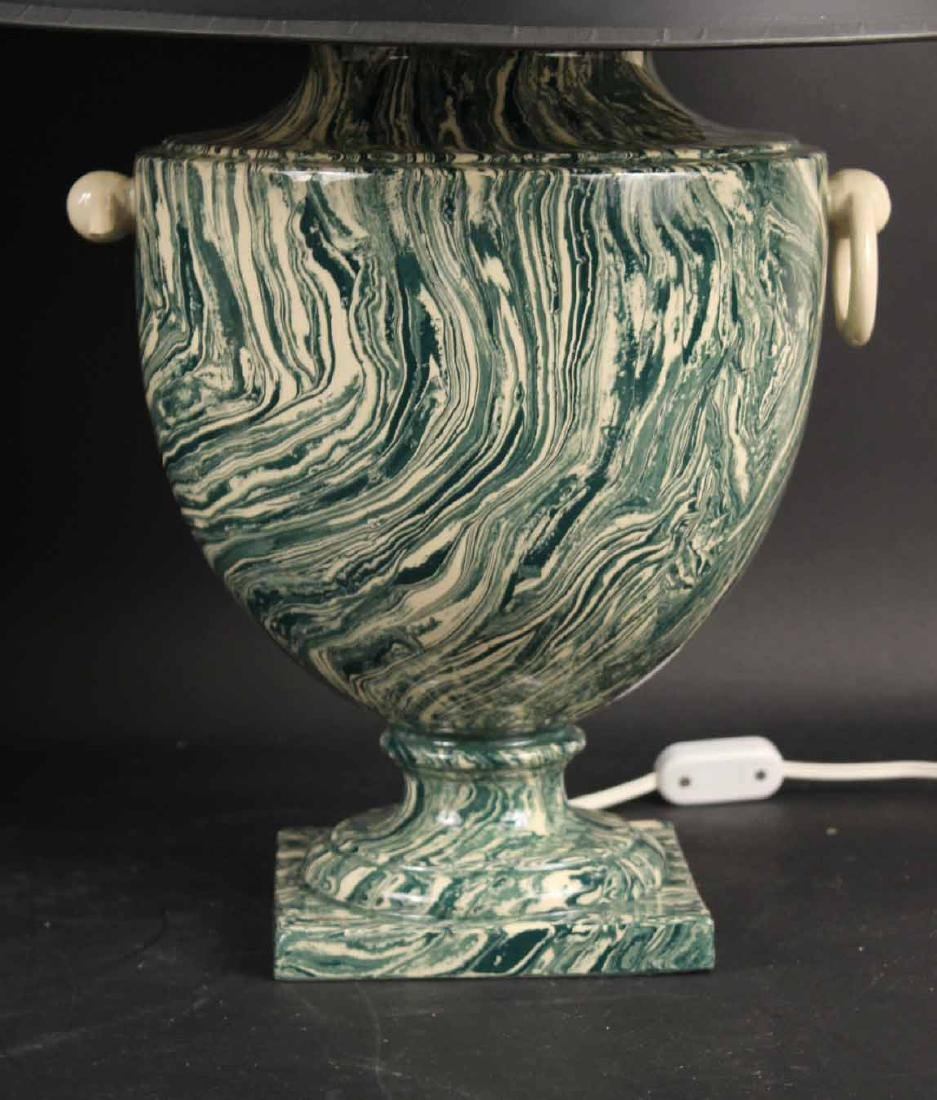 Two Neoclassical Style Ceramic Table Lamps - 5