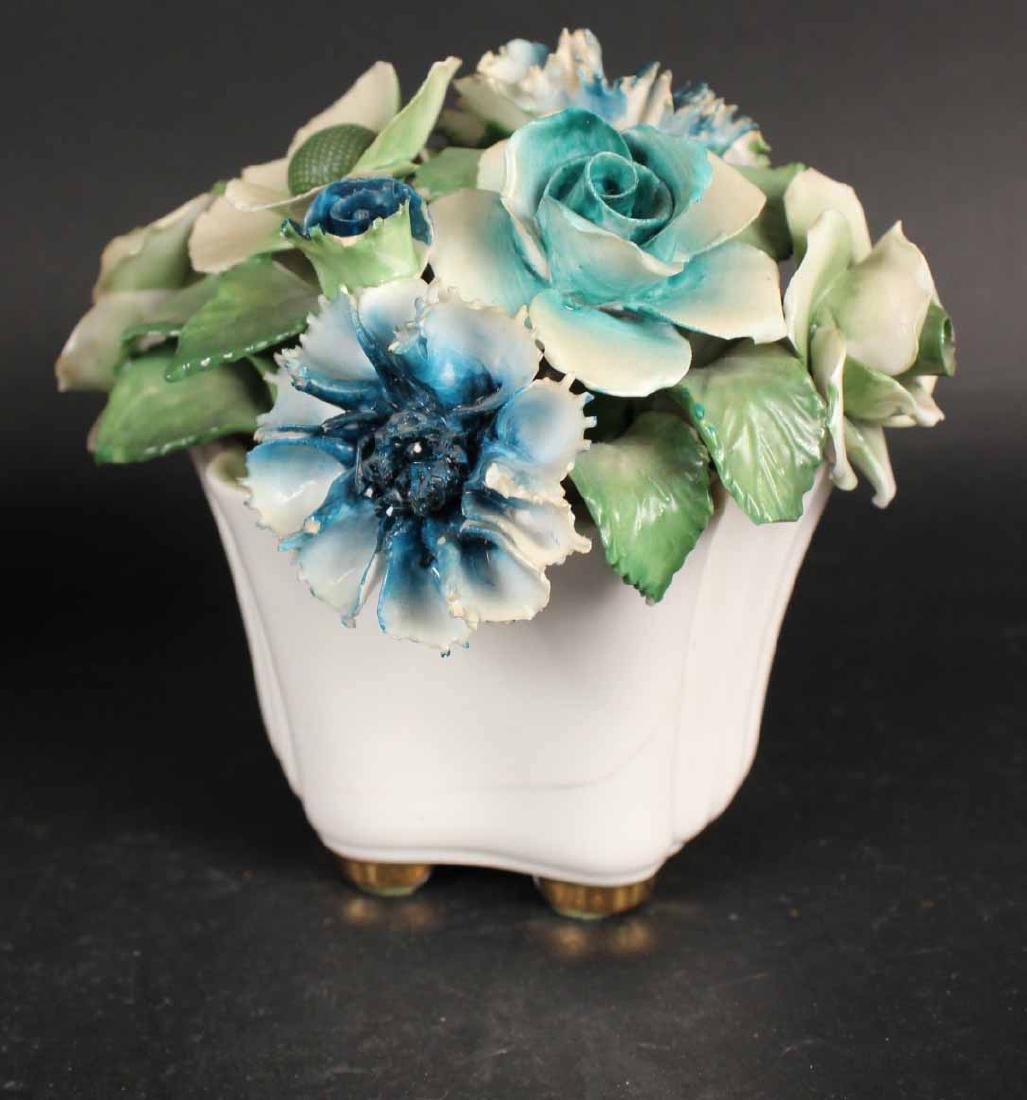 Six Porcelain Floral Arrangements - 4