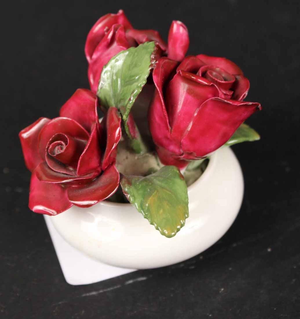 Six Porcelain Floral Arrangements - 7