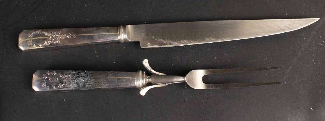Sterling Silver Three Piece Carving Set - 2
