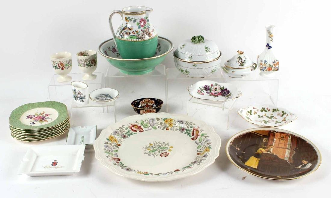 Two Herend Porcelain Articles