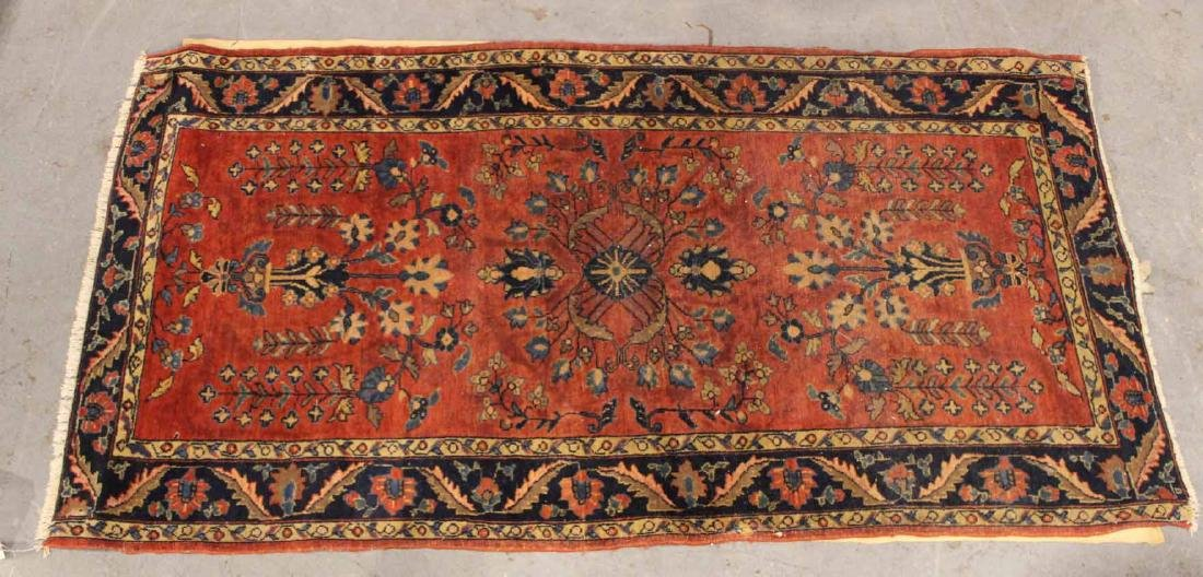 Two Sarouk Style Throw Rugs - 2