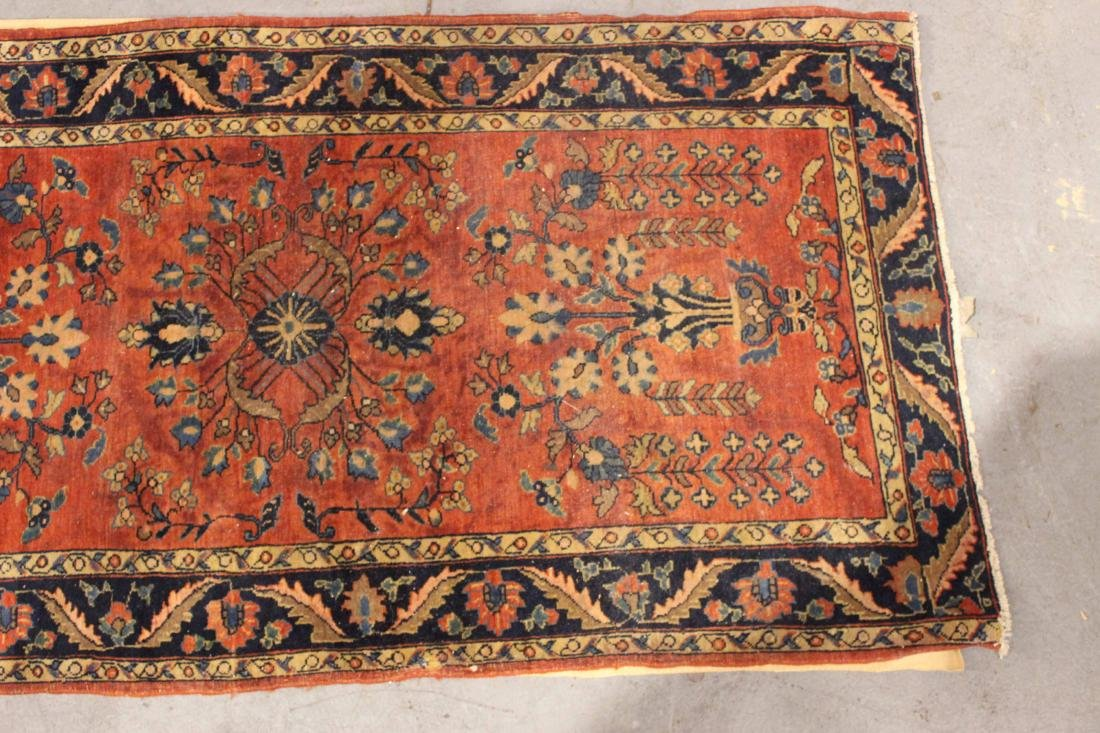 Two Sarouk Style Throw Rugs - 4