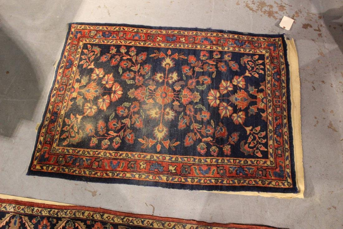 Two Sarouk Style Throw Rugs - 6