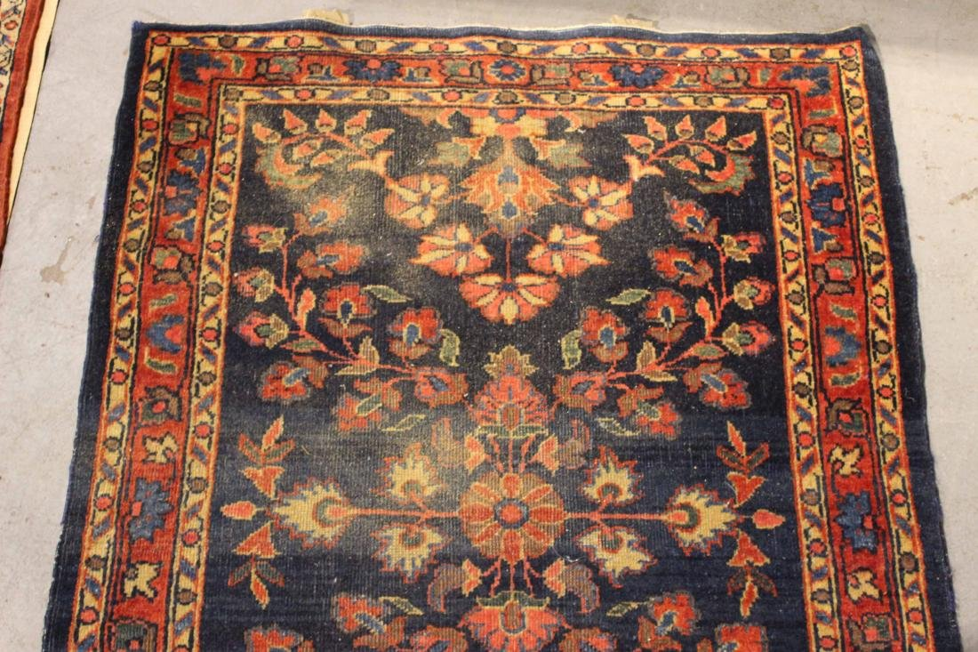 Two Sarouk Style Throw Rugs - 7
