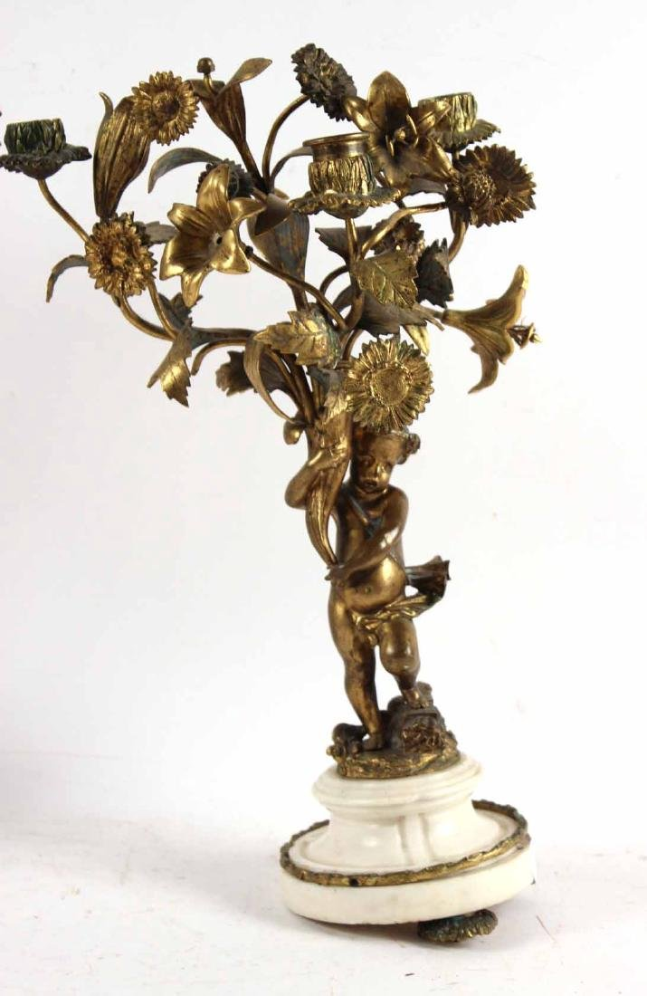 Pair of Louis XV Style Candelabra - 2