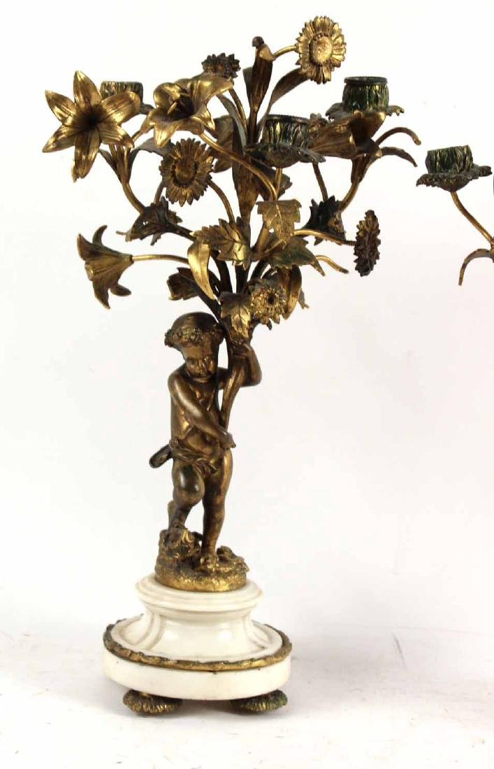 Pair of Louis XV Style Candelabra - 3
