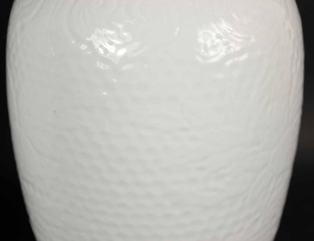 Pair of Chinese White Glazed Cheng Lung Vases - 4