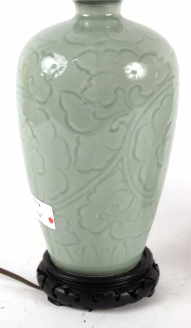 Pair of Chinese Celadon Vases - 4
