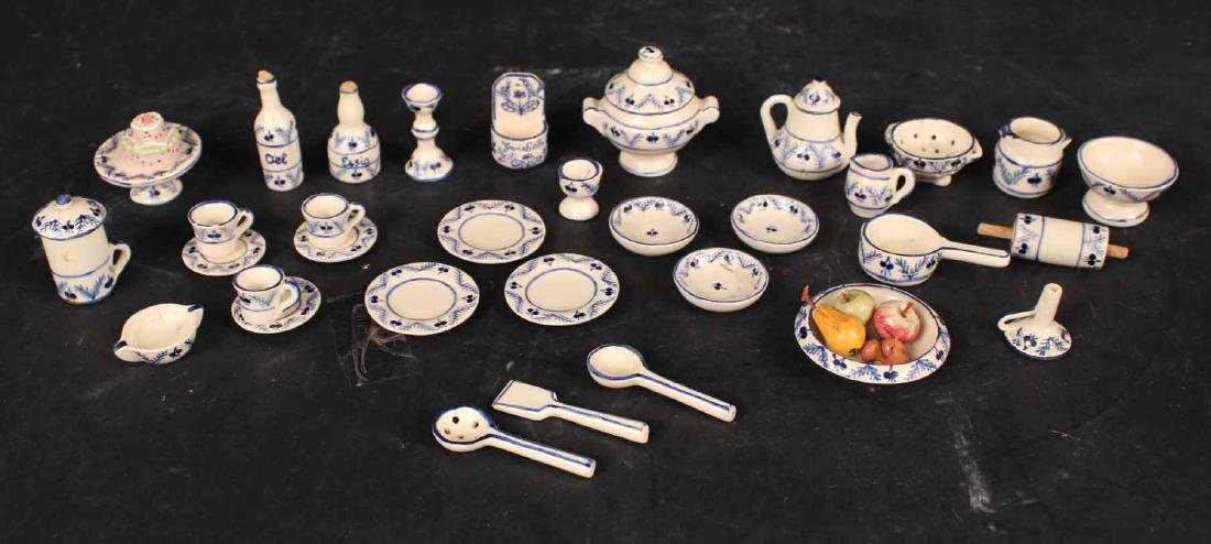 Group of Swiss Ceramic Miniature Table Articles
