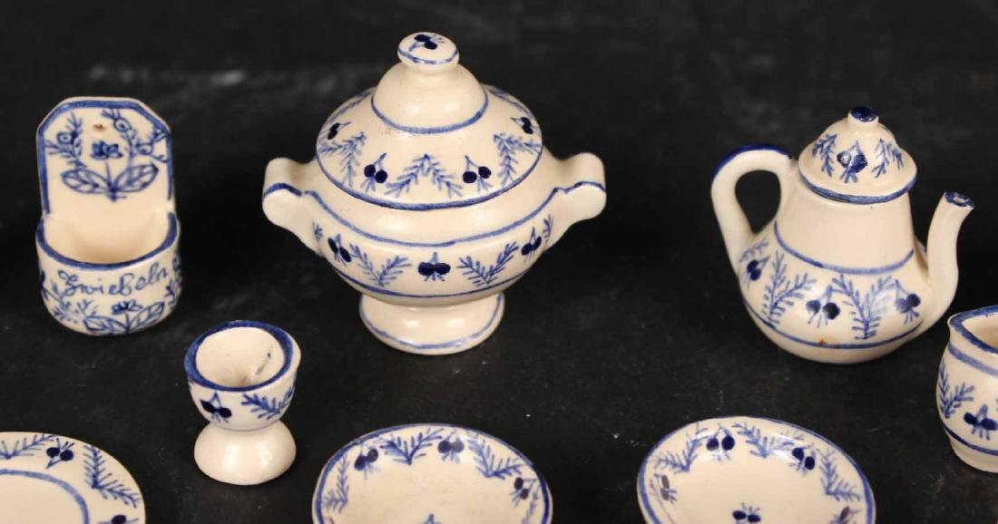Group of Swiss Ceramic Miniature Table Articles - 7