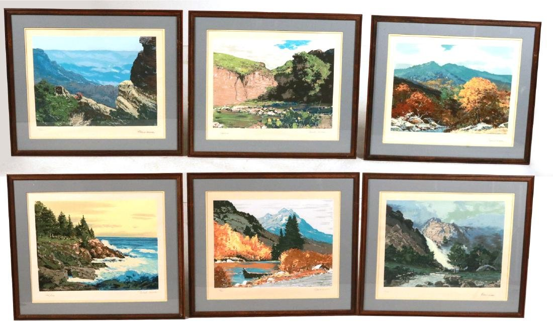 Six Robert Woods Serigraphs, National Parks