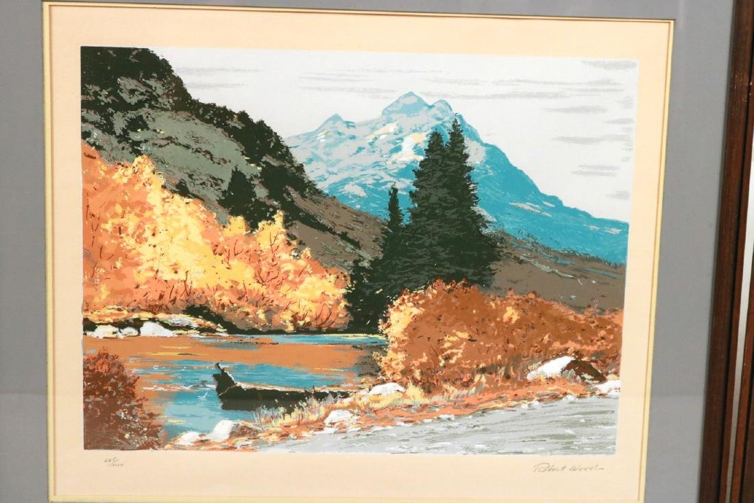 Six Robert Woods Serigraphs, National Parks - 4