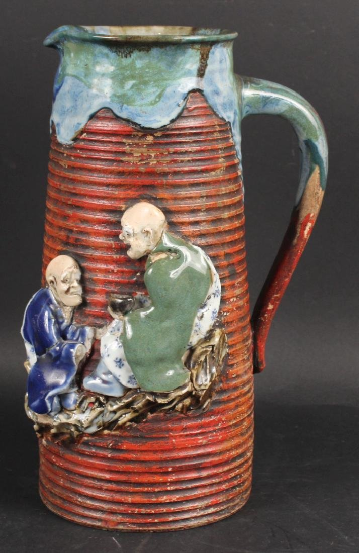 Japanese Pottery Figural Pitcher