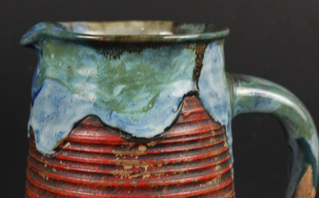 Japanese Pottery Figural Pitcher - 2