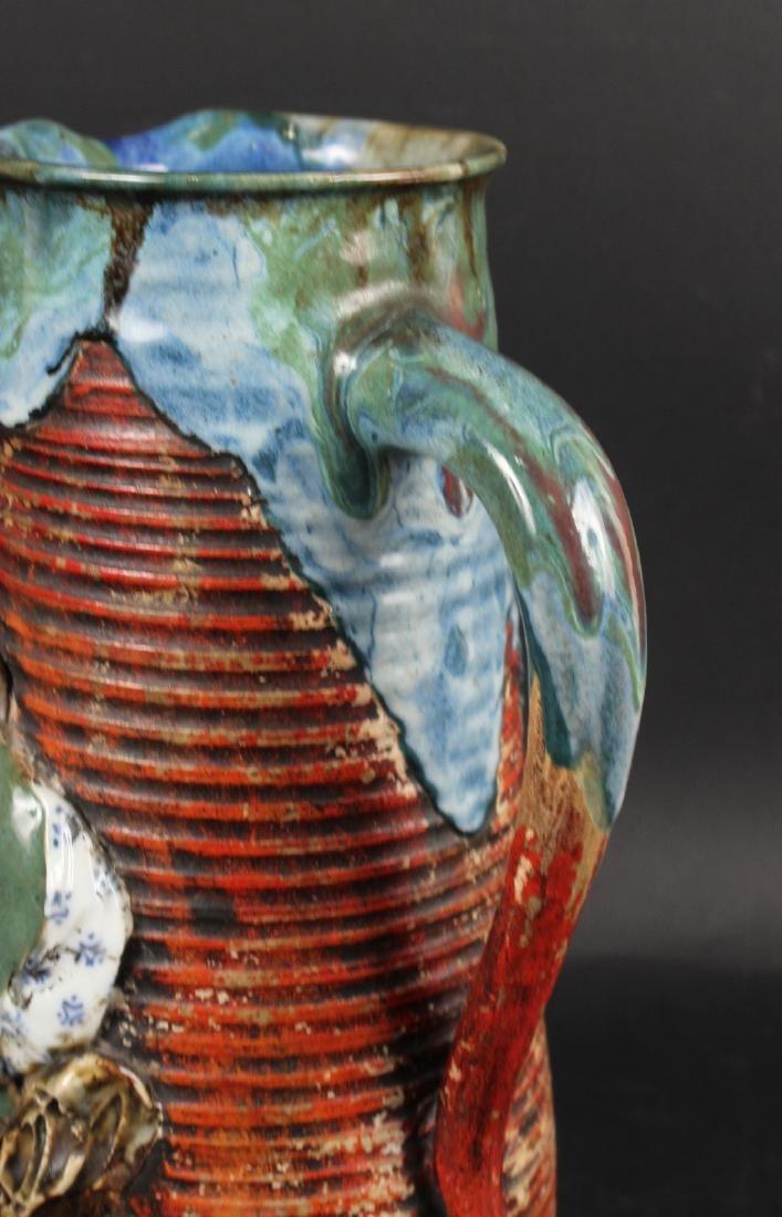 Japanese Pottery Figural Pitcher - 4