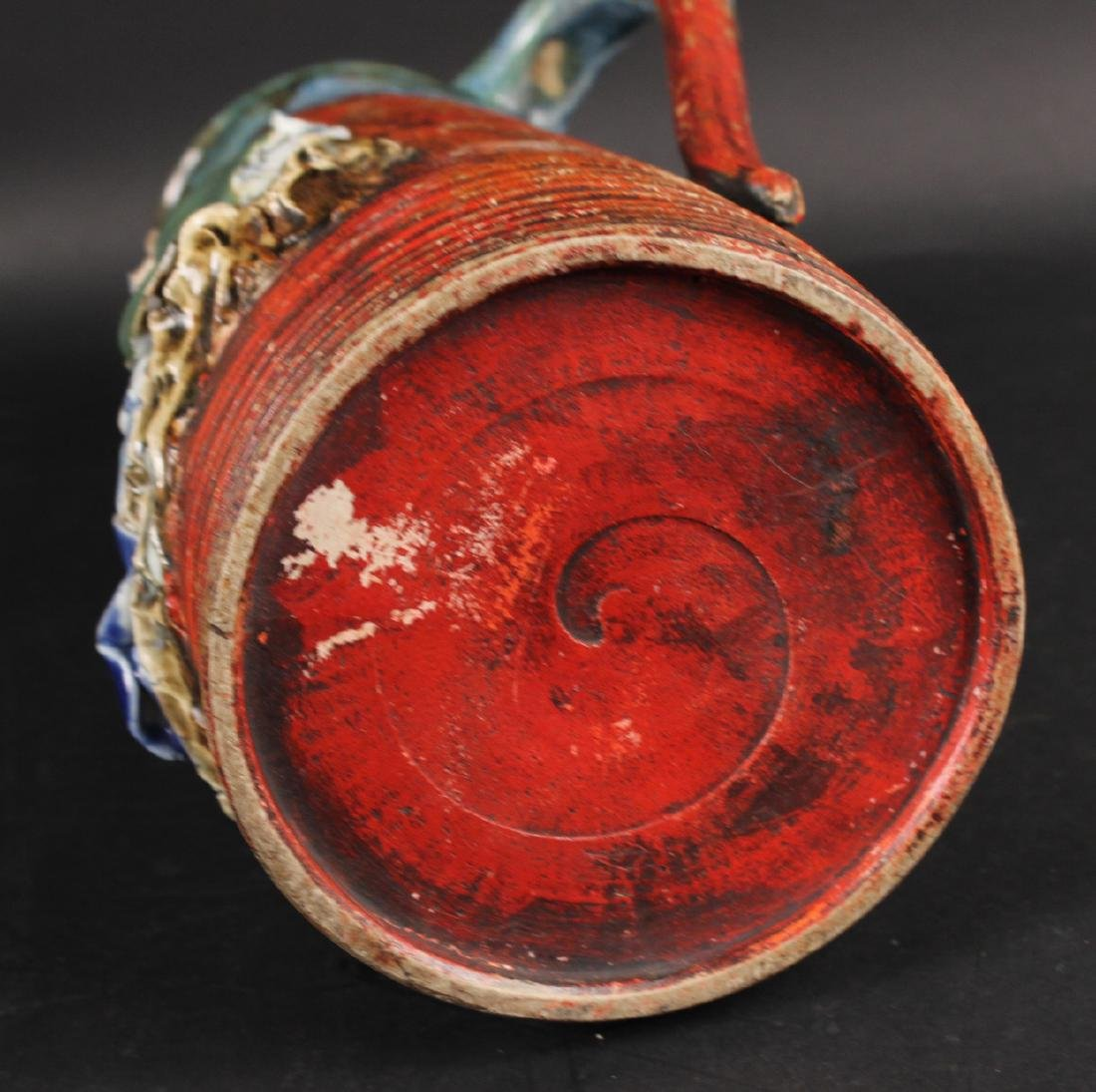 Japanese Pottery Figural Pitcher - 5