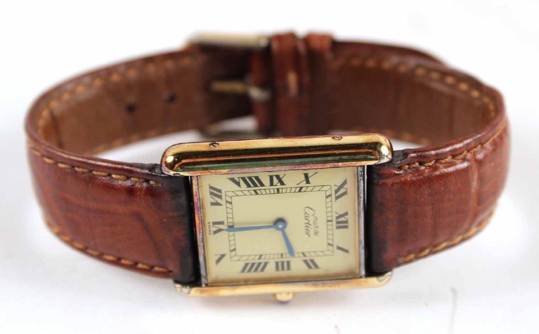 Must de Cartier Vermeil Quartz Tank Watch