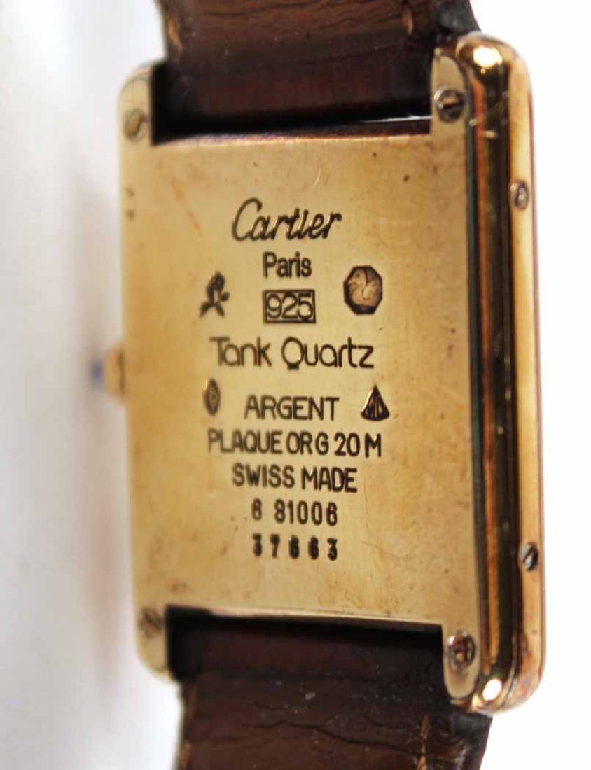 Must de Cartier Vermeil Quartz Tank Watch - 3