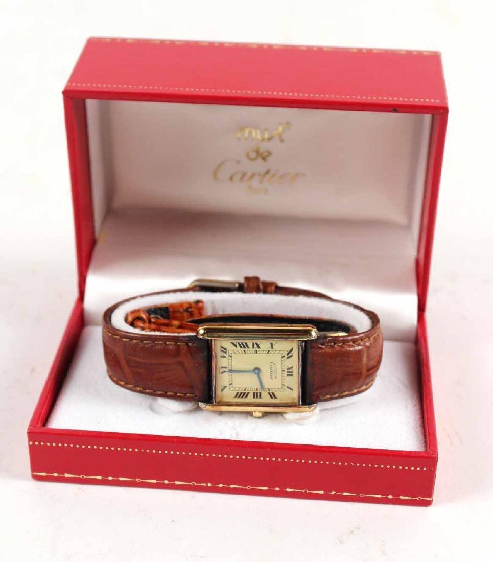 Must de Cartier Vermeil Quartz Tank Watch - 5