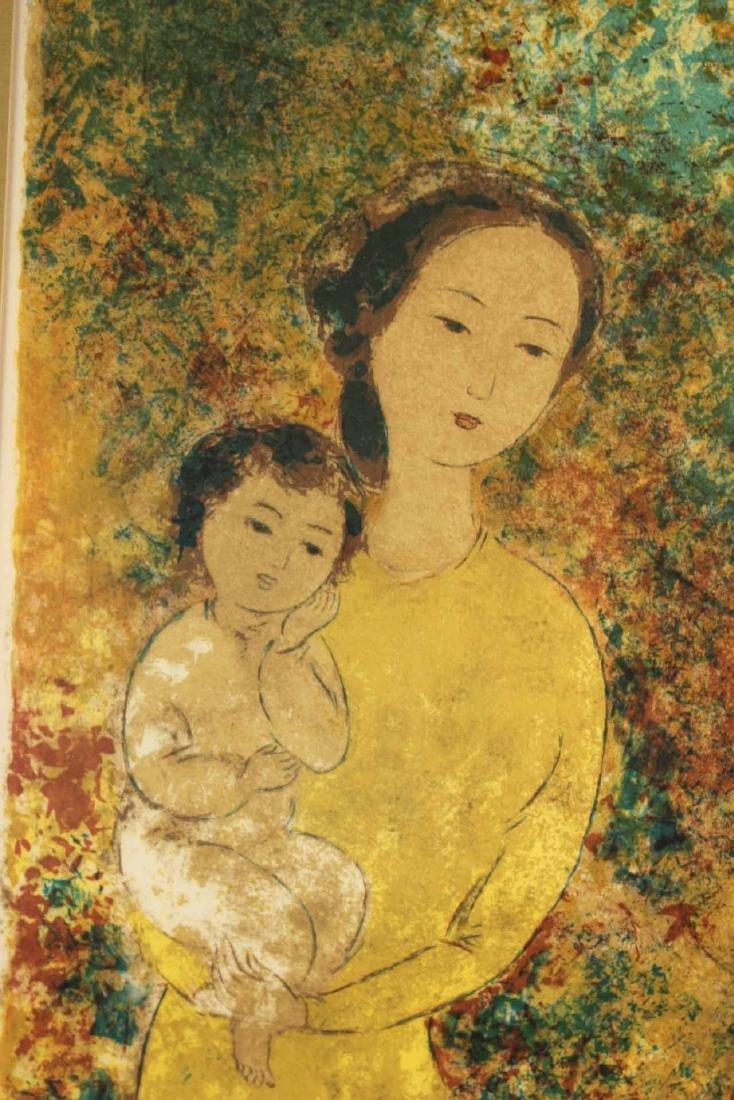 Color Lithograph, Mother & Child, Le Pho - 3