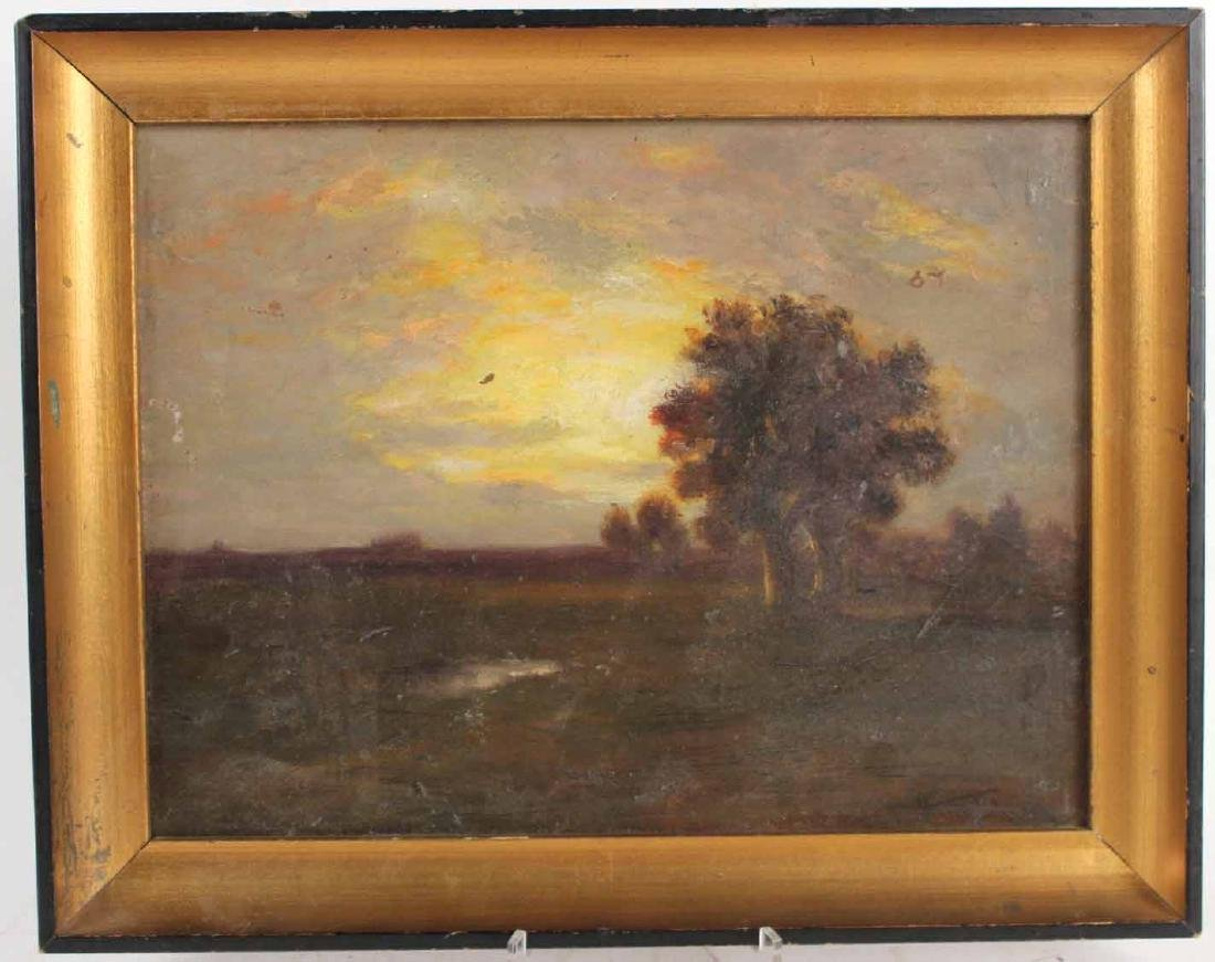 Oil on Board, Landscape, Harry Johnson
