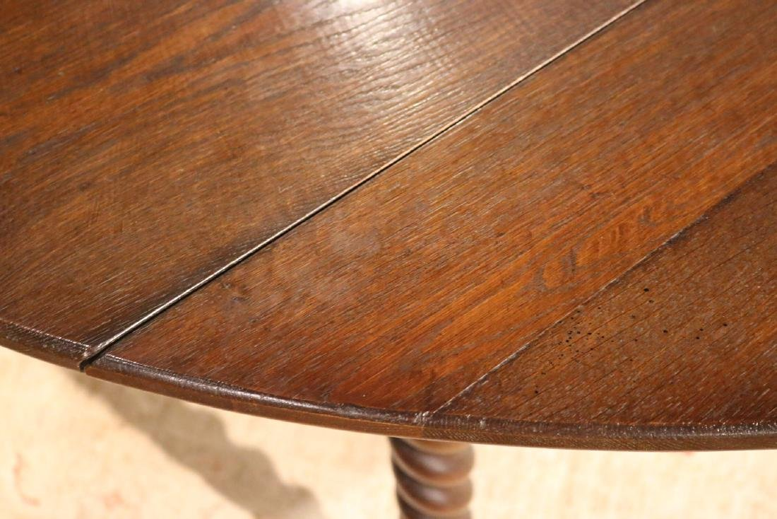 Baroque Style Mahogany Drop Leaf Dining Table - 5