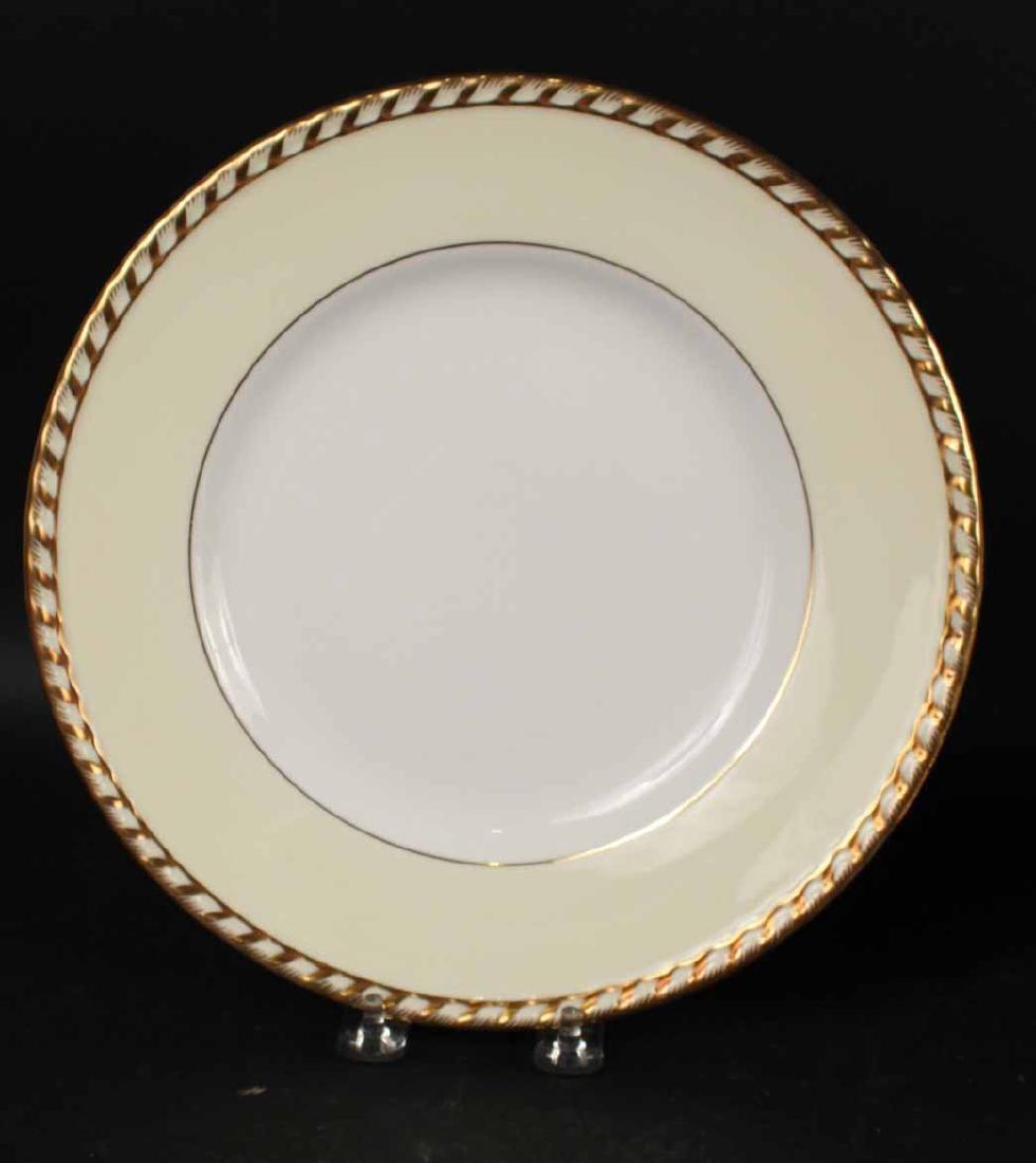 "Minton ""Commodore"" Pattern Dinner Plates - 3"