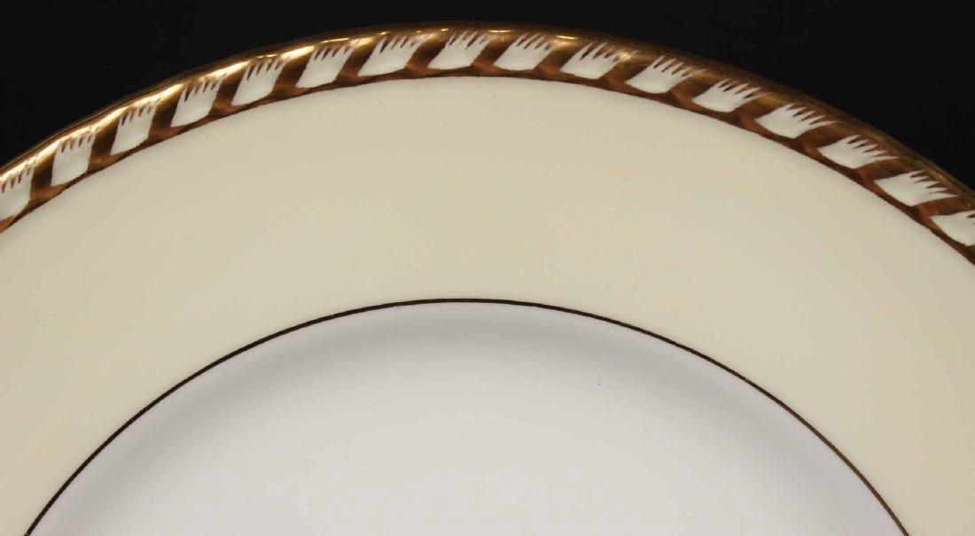"Minton ""Commodore"" Pattern Dinner Plates - 4"