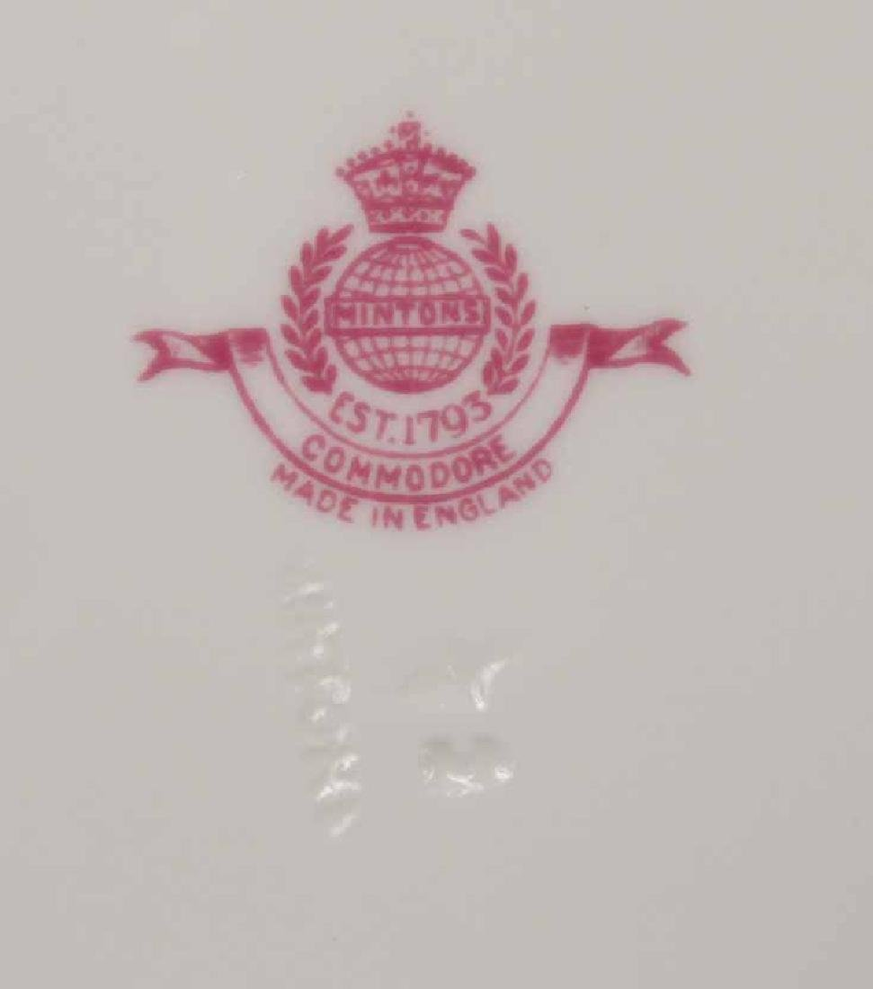 "Minton ""Commodore"" Pattern Dinner Plates - 5"