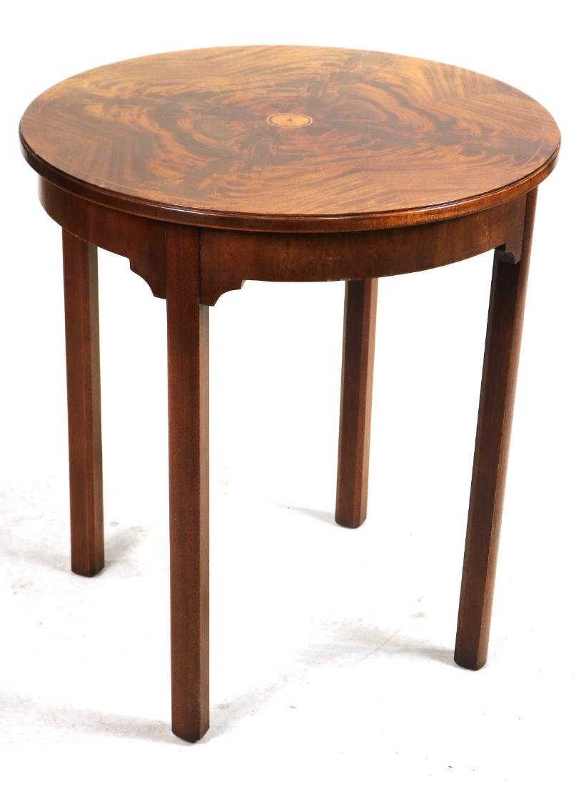 Federal Style Inlaid Round Occasional Table